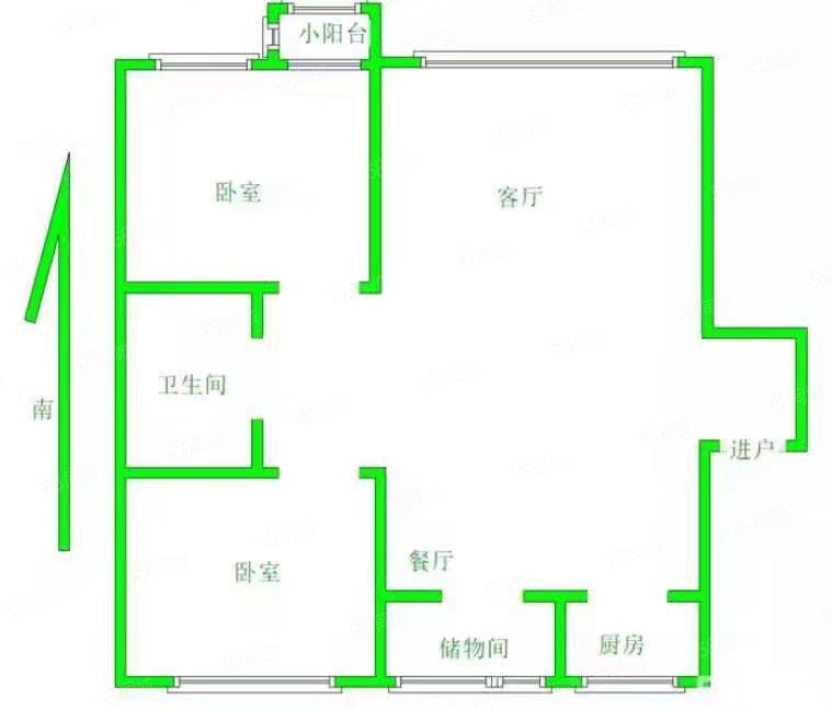 阅江城 2室1厅1卫 80㎡